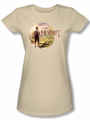 Hobbit Juniors Shirt Movie Unexpected Journey Loyalty Circle Cream Tee