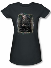 Hobbit Juniors Shirt Movie Unexpected Journey Loyalty Gandalf Charcoal