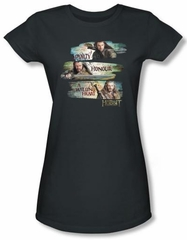 Hobbit Juniors Shirt Movie Unexpected Journey Loyalty Honour Charcoal