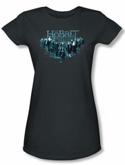 Hobbit Juniors Shirt Unexpected Journey Loyalty Thorin Charcoal Tee