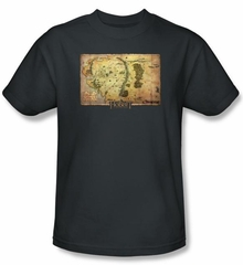 Hobbit Kids Shirt Movie Unexpected Journey Loyalty Map Charcoal Tee