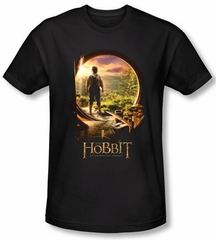 Hobbit Shirt Movie Unexpected Journey Loyalty Door Black Slim Fit Tee
