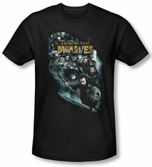 Hobbit Shirt Movie Unexpected Journey Loyalty Dwarves Black Slim Fit