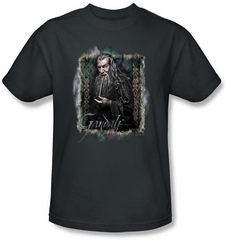 Hobbit Shirt Movie Unexpected Journey Loyalty Gandalf Charcoal Tee