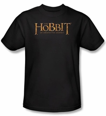 Hobbit Shirt Movie Unexpected Journey Loyalty Logo Black Adult Tee