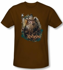 Hobbit Shirt Movie Unexpected Journey Loyalty Radagast Brown Slim Fit