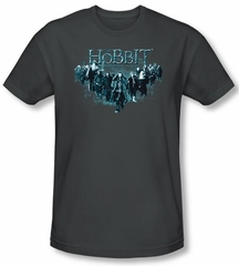 Hobbit Shirt Movie Unexpected Journey Loyalty Thorin Charcoal Slim Fit