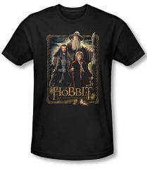 Hobbit Shirt Movie Unexpected Journey Loyalty Three Black Slim Fit Tee