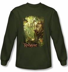 Hobbit Shirt Movie Unexpected Journey Loyalty Woods Green Long Sleeve