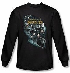 Hobbit Shirt Unexpected Journey Loyalty Dwarves Black Long Sleeve Tee