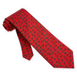 Holly Mini Red Silk Tie Necktie � Mens Holiday Neck Tie