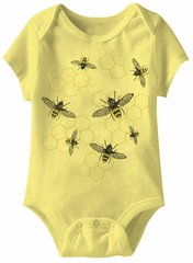 Honey Funny Baby Romper Yellow Infant Babies Creeper