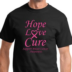 Hope Love Cure Breast Cancer Awareness Shirts