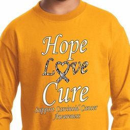 Hope Love Cure Carcinoid Cancer Kids Shirts