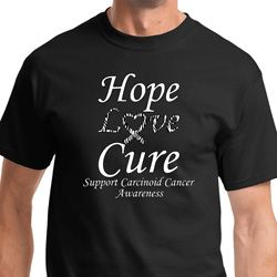 Hope Love Cure Carcinoid Cancer Mens Shirts