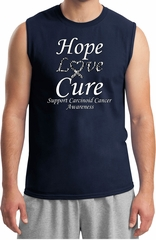 Hope Love Cure Carcinoid Cancer Muscle Shirt