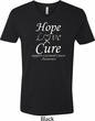 Hope Love Cure Carcinoid Cancer V-neck