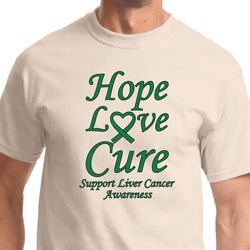 Hope Love Cure Liver Cancer Awareness Shirts