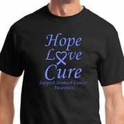Hope Love Cure Stomach Cancer Mens Shirts