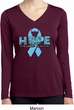 Hope Prostate Cancer Ladies Dry Wicking Long Sleeve Shirt