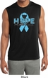 Hope Prostate Cancer Mens Sleeveless Moisture Wicking Shirt