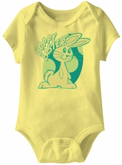 Hoppy Easter Funny Baby Romper Yellow Infant Babies Creeper