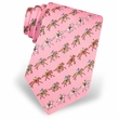 Horse Pink Silk Tie Necktie Men's Animal Print Win Place Show Neck Tie