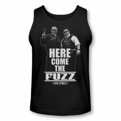 Hot Fuzz Tank Top Here Come The Fuzz Black Tanktop