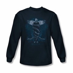 House Shirt Humanity Is Overated Long Sleeve Navy Tee T-Shirt