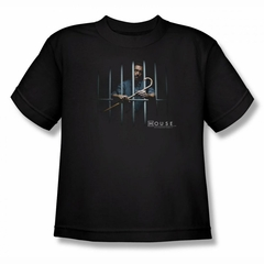 House Shirt Kids Behind Bars Black T-Shirt