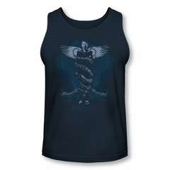 House Shirt Tank Top Humanity Is Overated Navy Tanktop