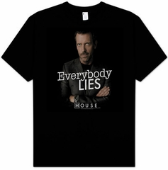House T-shirt TV Show Kids Size Everybody Lies Youth Black Tee