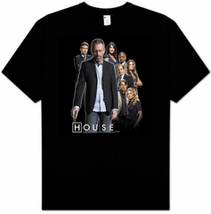 House T-shirt TV Show Kids Size House Crew Youth Black Tee