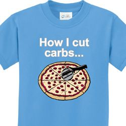 How I Cut Carbs Kids Shirts