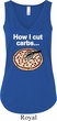 How I Cut Carbs Ladies Flowy V-neck Tank Top