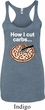 How I Cut Carbs Ladies Tri Blend Racerback Tank Top