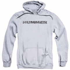 Hummer Hoodie Distressed Logo Athletic Heather Sweatshirt Hoody