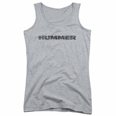 Hummer Juniors Tank Top Distressed Logo Athletic Heather Tanktop