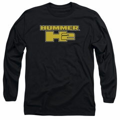 Hummer Long Sleeve Shirt H2 Block Logo Black Tee T-Shirt