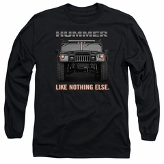 Hummer Long Sleeve Shirt Like Nothing Else Black Tee T-Shirt