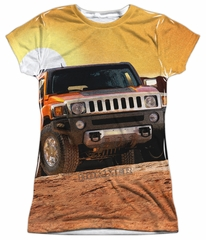 Hummer Shirt Sunset Ride Sublimation Juniors Shirt