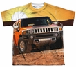 Hummer Shirt Sunset Ride Sublimation Youth Shirt Front/Back Print