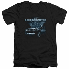 Hummer Slim Fit V-Neck Shirt Stormy Ride Black T-Shirt