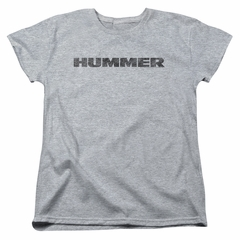 Hummer Womens Shirt Distressed Logo Athletic Heather T-Shirt