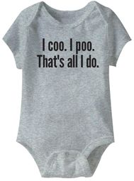 I coo. I poo. that's all I do Funny Baby Romper Grey Infant Babies Creeper