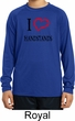 I Love Handstands Kids Dry Wicking Long Sleeve Shirt