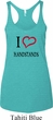 I Love Handstands Ladies Tri Blend Racerback Tank Top