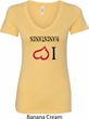 I Love Handstands Upside Down Ladies V-Neck Shirt