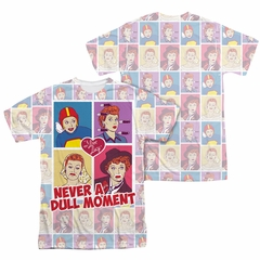 I Love Lucy All Over Panels Sublimation Shirt Front/Back Print