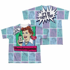 I Love Lucy All Over Vita Comic Sublimation Kids Shirt Front/Back Print